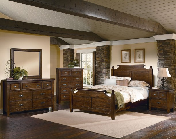 Timber Mill Pine Youth Broomhandle Bedroom Set