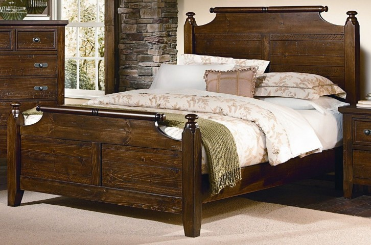 Timber Mill Pine King Broomhandle Bed