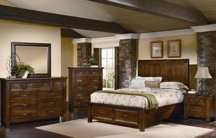 Timber Mill Pine Timber Storage Bedroom Set