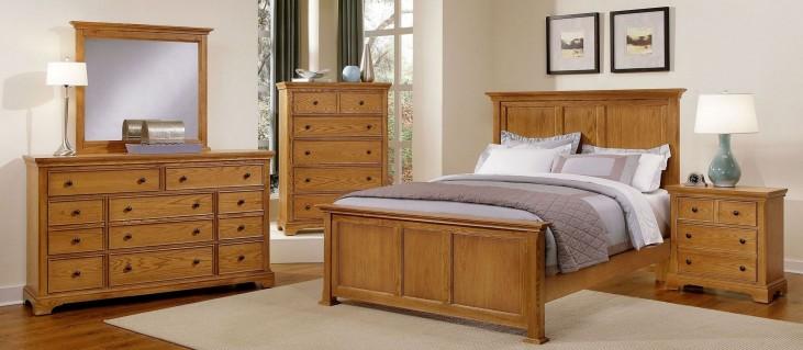 Forsyth Medium Oak Youth Panel Bedroom Set