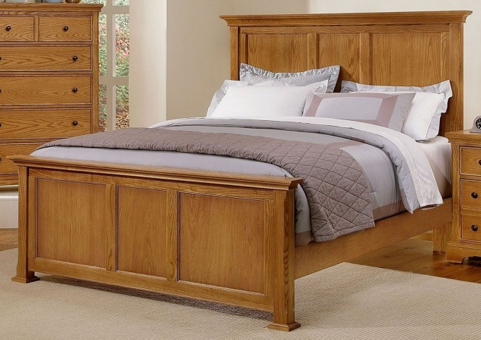Forsyth Medium Oak Full Panel Bed