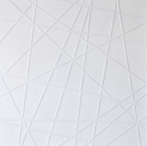 White Web Canvas Wall Art