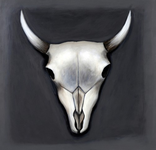 Grey Skull Canvas Wall Art