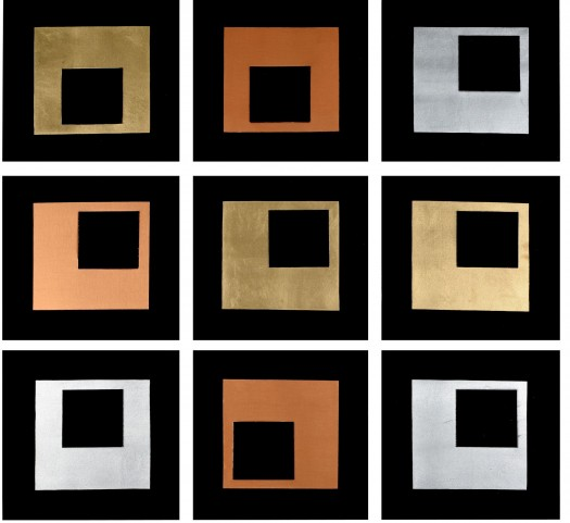 Study In Squares Wall Art Set Of 9