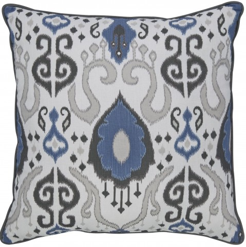 Damaria Blue and White Pillow