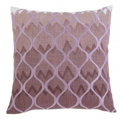 Stitched Purple Pillow Cover Set of 4