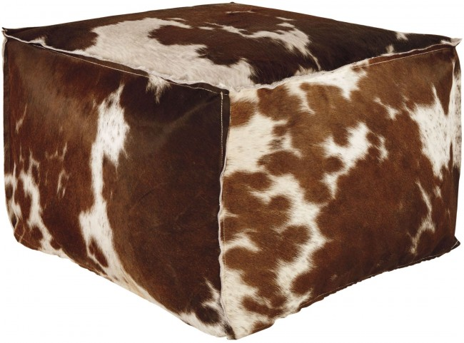 Tegan Dark Brown and Black Pouf