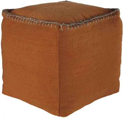 Caius Rust Orange Pouf
