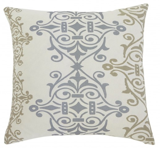 Scroll Gray/Brown Pillow Cover Set of 4