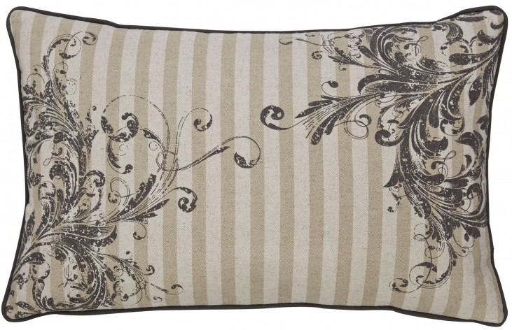 Avariella Natural and Gray Pillow
