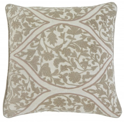 Stitched Natural Brown Pillow Cover Set of 4