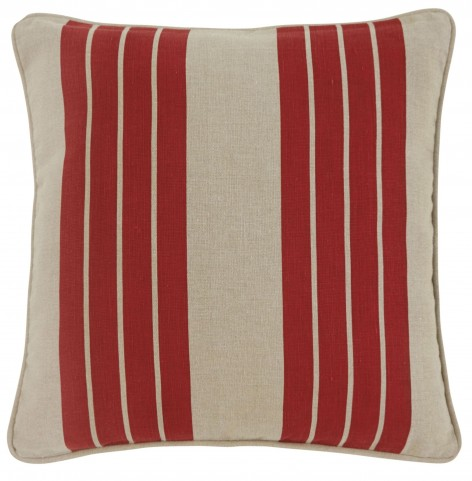 Striped Red Pillow Cover Set of 4