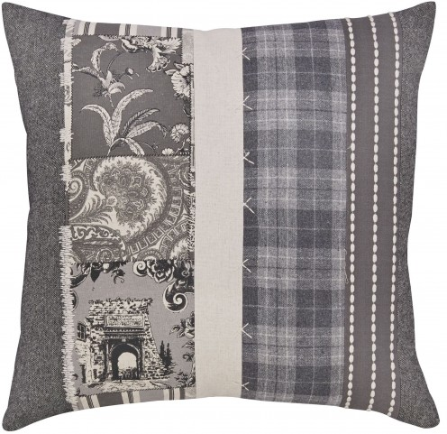 Avinoam Natural and Gray Pillow