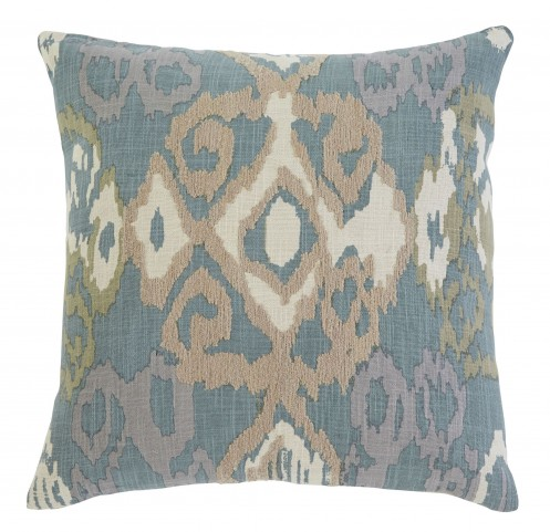 Patterned Blue Pillow Cover Set of 4