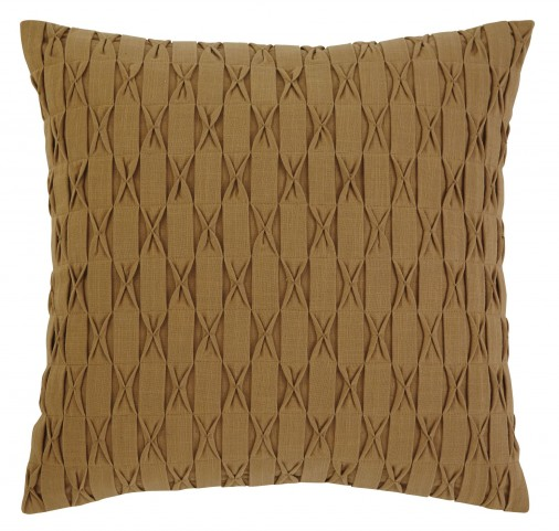 Patterned Gold Pillow Set of 4