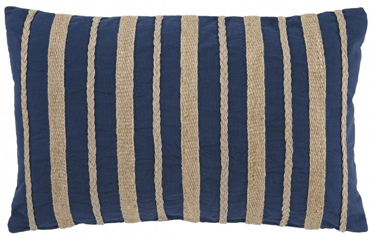 Zackery Blue Pillow Set of 4