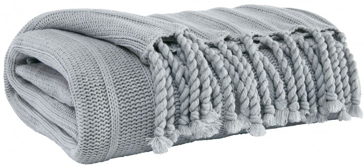 Clarence Light Gray Throw Set of 3