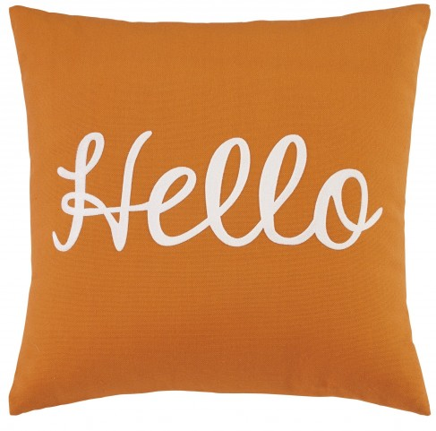 Shapeleigh Orange Pillow Set of 4