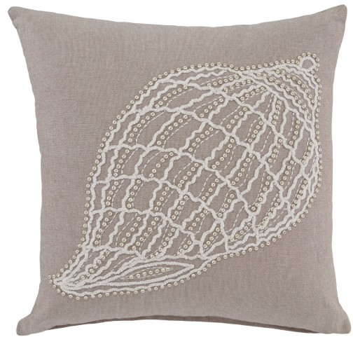 Anshel Natural Shell Design Pillow Cover Set of 4