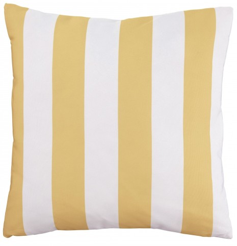 Hutto Yellow and White Pillow Set of 4