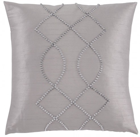 Stonbriar Silver and Gray Pillow Cover Set of 4
