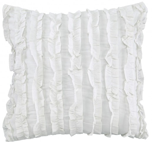 Ruffin White Pillow Set of 4