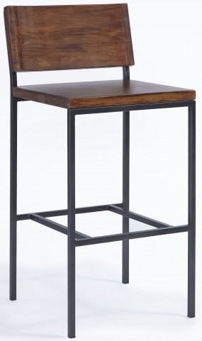Sawyer Java Pine Wood and Metal Counter Stool