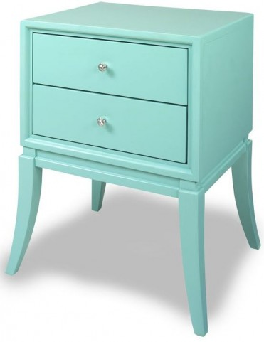 Cami Robin Egg Blue Chairside Table