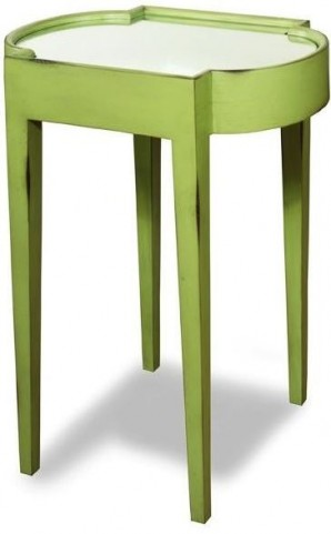 Suri Green Mirrored Top Chairside Table