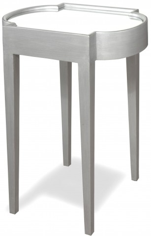 Suri Silver Mirrored Top Chairside Table