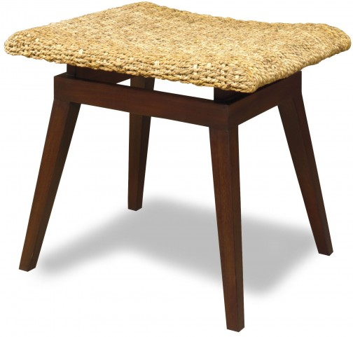 Kelsey Java Pine Woven Bench