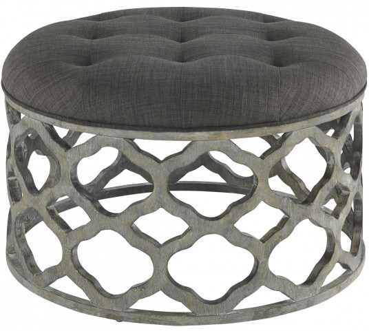 Clara Storm Grey Upholstered Cocktail Table