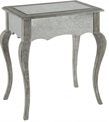 Lila Weathered White Side Table