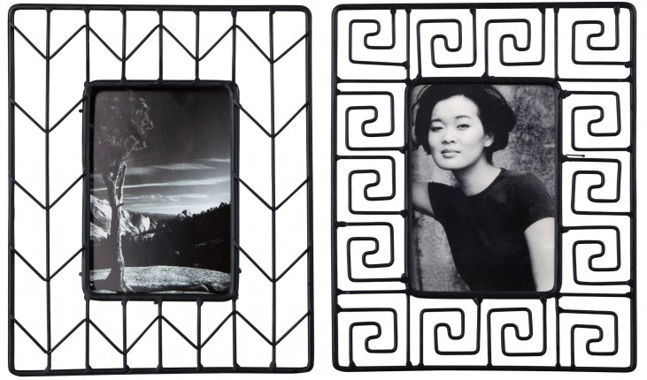Achava Black Photo Frame Set of 2