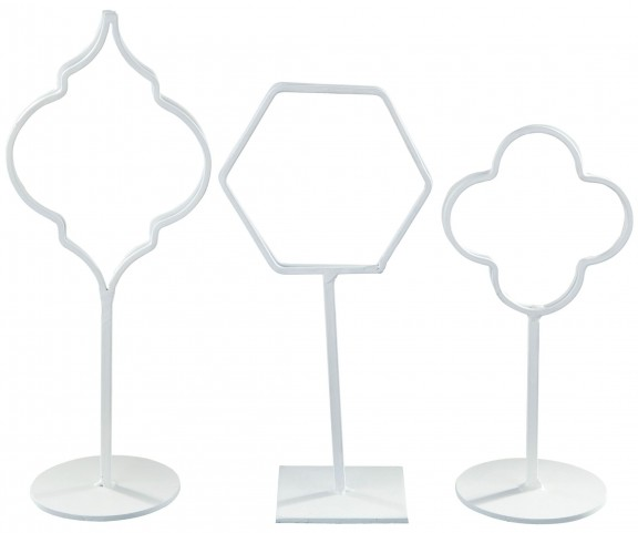 Acotas White Photo Holder Set of 3