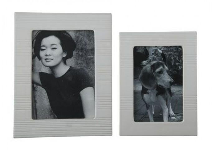 Baback White Photo Frame Set of 2