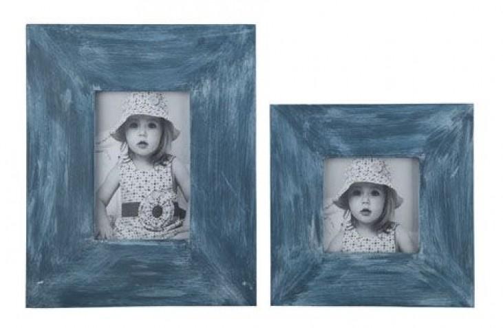 Baeddan Antique Blue Photo Frame Set of 2