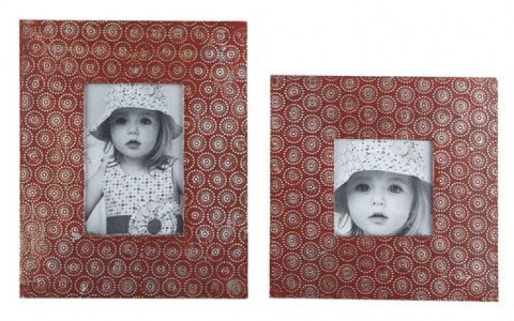 Bansi Orange Metal Photo Frame Set of 2