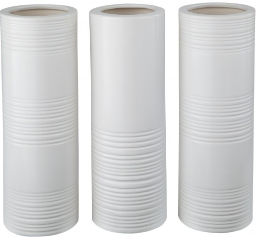 Daemyn White Vase Set of 3