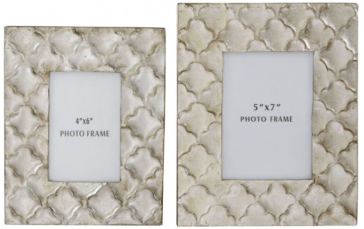 Kaeden Silver Leaf Photo Frame Set of 2