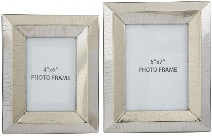 Keyon Nickel Finish Photo Frame Set of 2