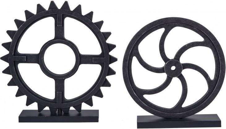 Dermot Antique Black Sculpture Set of 2