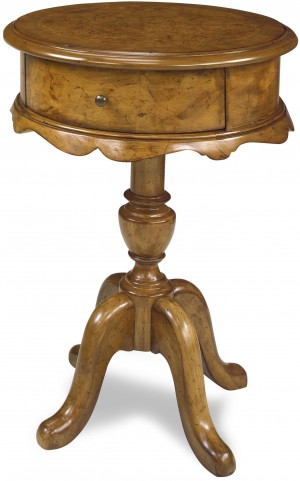 Molly Caramel Chairside Table