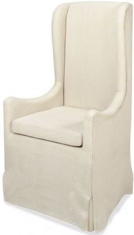 Sienna Neutral Skirted Wing Chair
