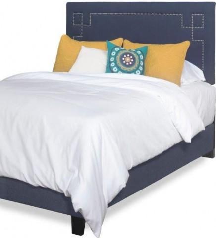 Addison Cobalt Blue Queen Upholstered Bed