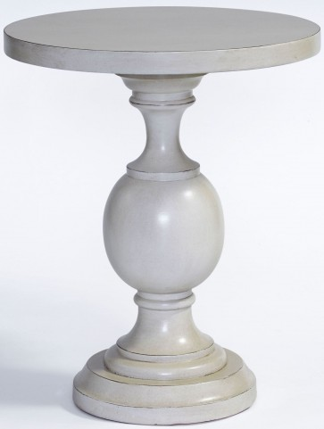 Bailey Eggshell White Chairside Table