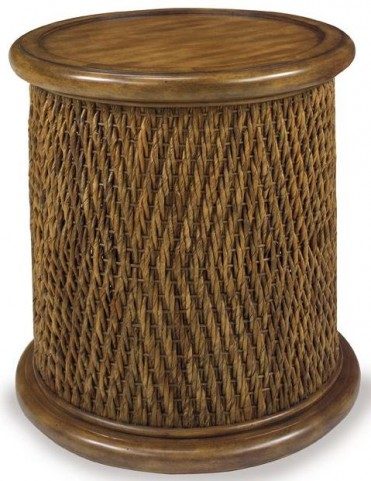 Turk Tea Round Woven Drum Table