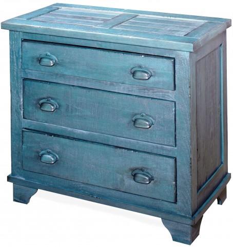 Camryn Denim Blue Industrial Chest