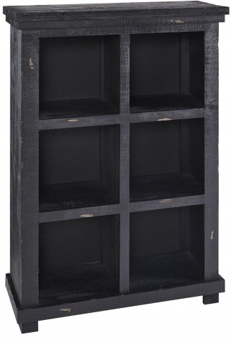 "Willow 48"" Black Bookcase"