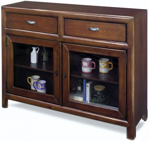 Shelby Java Pine Curio Cabinet